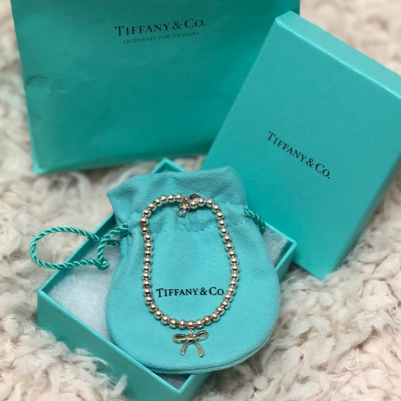 Tiffany & Co. Jewelry - Brand New Tiffany & Co silver bow bead bracelet